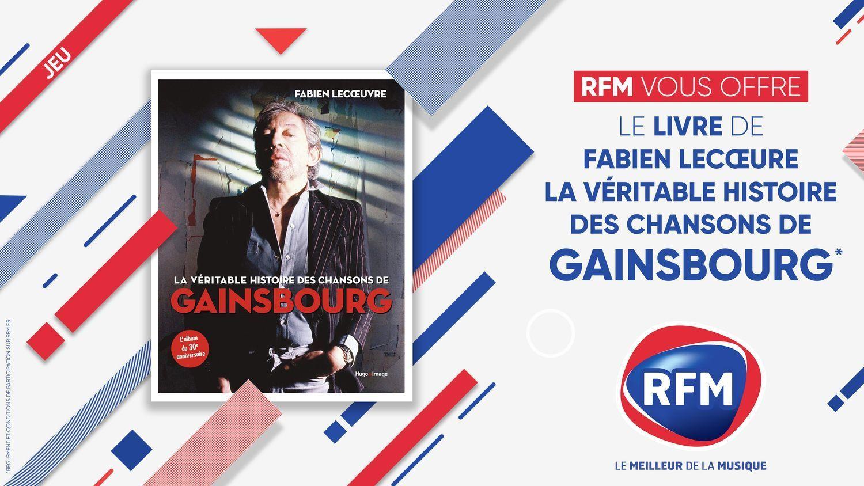 forum concours RFM-vous-offre-votre-livre-La-veritable-histoire-des-chansons-de-Gainsbourg