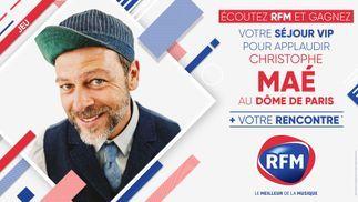 Ecoutez RFM et gagnez votre séjour VIP pour applaudir Christophe Maé au Dôme de Paris !