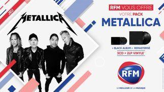 RFM vous offre votre pack album Metallica !