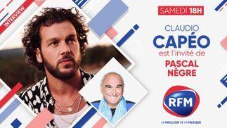 Samedi 19 septembre: Claudio Capéo est l'invité de Pascal Nègre
